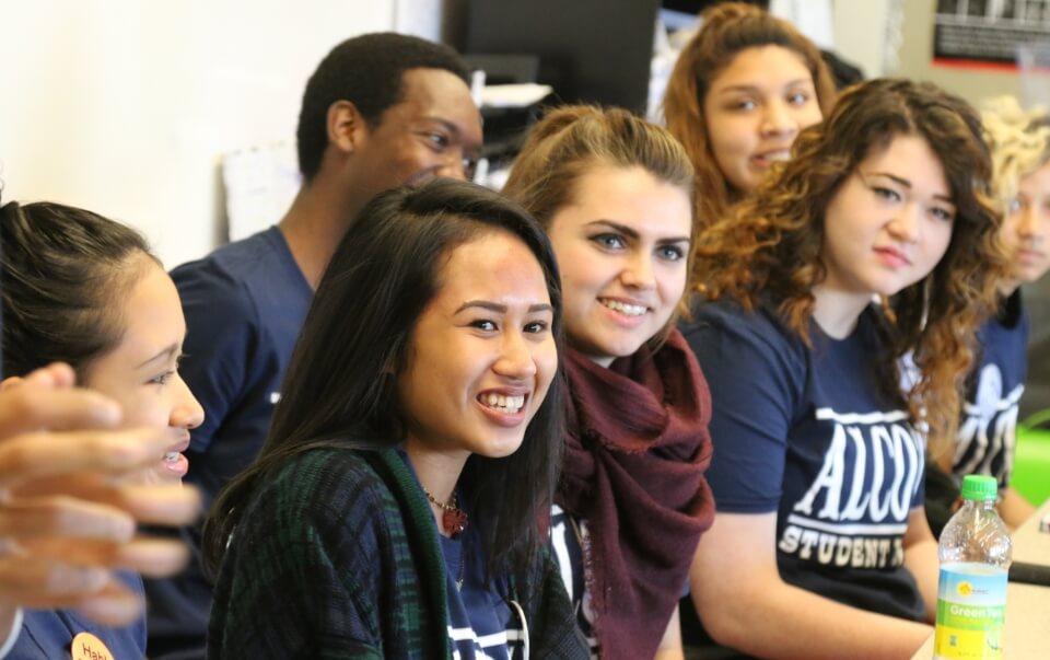 Alcott students in class